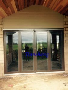 Thermal Break Aluminum Folding Door with Double Glazing with Built-in Blind for New Zealand pictures & photos