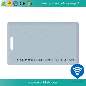Inkjet Plain White Plastic ID Thick Card with Tk4100/T5577/Em4305 Chip pictures & photos