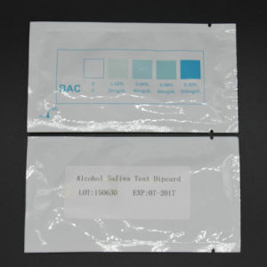 Ce Marked One Step Rapid Alcohol Urine/Saliva/Breast Milk Test Strip pictures & photos