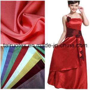 Polyester Stretch Satin for Lady Dress and Wedding Cloth pictures & photos