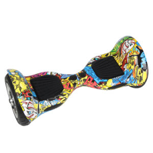Fashion 10 Inch Electric Scooter with LED Light 2 Wheels Skateboard pictures & photos
