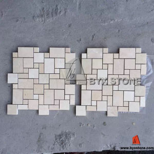 French Style Beige Marble Mosaic Pattern Tiles pictures & photos