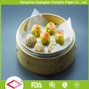 Perforated Siliconized Steam Paper for Stuffed Bun Dim Sum Steaming pictures & photos