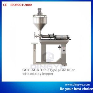 Table Type Paste Filler with Mixing Hopper (Gcg-Mix) pictures & photos