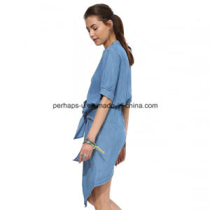 High Quality New Design Denim Jeans Dress Ladies Dress pictures & photos