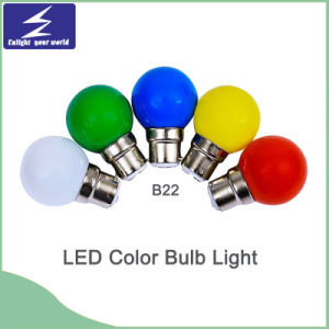 E27/B22 PP Material Colorful LED Bulb Light