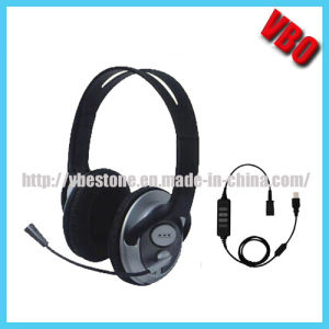 High Definition Binaural USB Headset with Noise Cancelling Microphone pictures & photos