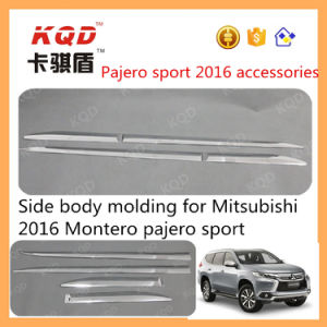 High Quality ABS Chrome Door Side Molding Trims for Mitsubishi Pajero 2016 Accessories Body Cladding for Pajero Sport 2016