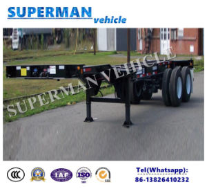 20FT Skeletal Frame Container Transport Truck Trailer pictures & photos