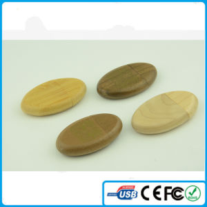 China Round Shape USB Memory Wooden USB Flash Memory 2.0