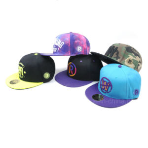 New Design Custom Snapback Hat/Hip Hop Snapback Hat and Cap/Flat Bill Snapback Hats pictures & photos