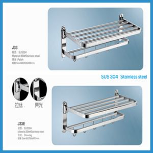 High Quality Stainless Steel Bathroom Towel Rack (J33) pictures & photos