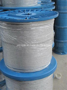 Hot-Dipped Galanized Steel Wire Rope, Wire Rope 7*7 pictures & photos
