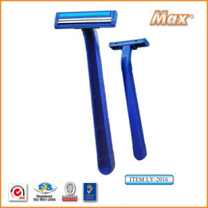 Twin Stainless Steel Blade Disposable Razor Fro Man (LY-2016) pictures & photos
