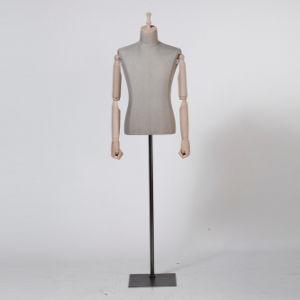 Fiberglass Male Torso Mannequin with Wooden Arm pictures & photos