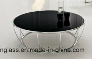 Color Fritted Tempered Glass Top for Living Room Table pictures & photos