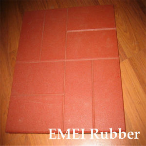 High Density Bright EPDM Outdoor Rubber Brick/Rubber Floor pictures & photos