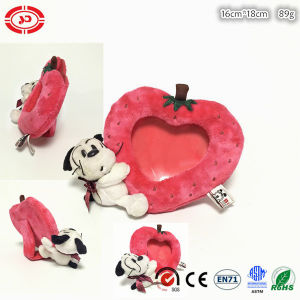 Baby Photo Frame Plush Soft Strawberry Shape Toy with Dog pictures & photos