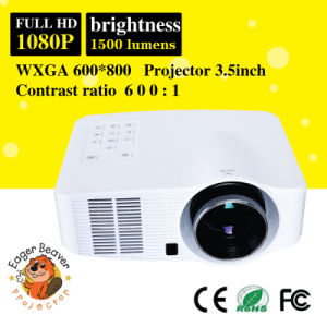 1500 Lumens 60W LED, 20000hours Life TV Projector