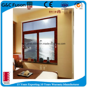 Fashionable Aluminum Double Glass Sliding Soundproof Windows pictures & photos