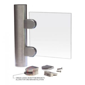 Stainless Steel Glass Clamp for Handrail Post System with Security Plate pictures & photos