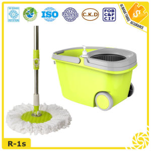 Easy to Move and Durable Double Driver Stainless Steel Cleaning Spin Mop pictures & photos