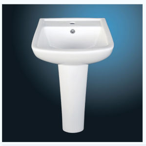 Ceramic Basin with Pedestal in New Shape pictures & photos