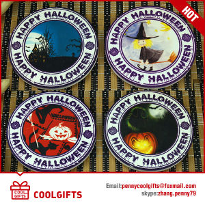 Halloween Round Ceramic Cork Coaster with Sublimation for Promotion pictures & photos
