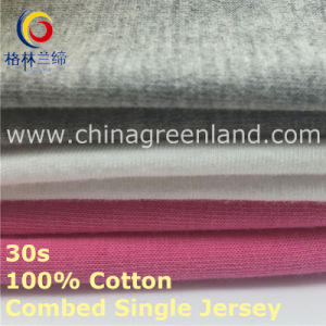 Cotton Combed Knitting Single Jersey Fabric for Bedsheet Textile (GLLML419) pictures & photos