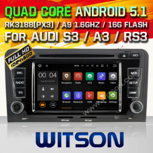 Witson Android 5.1 Car DVD GPS for Audi A3 with Chipset 1080P 16g ROM WiFi 3G Internet DVR Support (A5763) pictures & photos