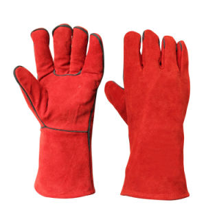 Heat Resistant Heavy Duty Safety Hand Protection Welding Gloves pictures & photos