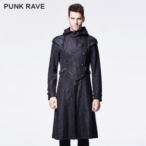 Y-582 Punk Rave Autumn New Design Man Hooded Coat pictures & photos