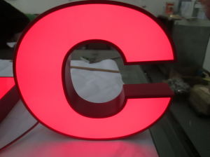 Steel Fabricated Acrylic Illuminated Concierge Identity Letter Signs pictures & photos
