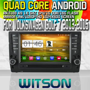 Witson S160 Car DVD GPS Player for Volkswagen Golf 7 2013-2015 with Rk3188 Quad Core HD 1024X600 Screen 16GB Flash 1080P WiFi 3G Front DVR DVB-T Mirror(W2-M257) pictures & photos