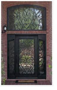 China Entrance Door Rectangle Top Wrought Iron Single Doors with Transom (UID-S059) pictures & photos
