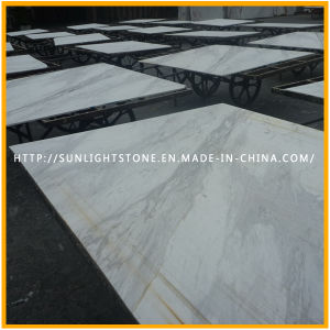Natural Volakas White Marble Floor Tiles for Kitchen/Bathroom Flooring pictures & photos