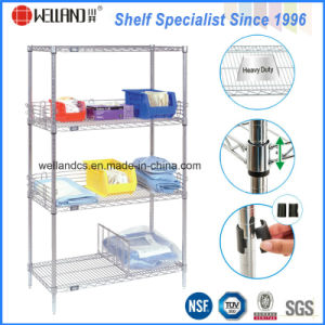NSF Metro Standard Healthcare Chrome Metal Storage Shelving for Hospital Use pictures & photos