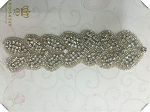 Bride Wedding Dress Handmade Custom Rhinestone Belts, DIY Accessories