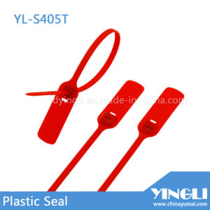 Self Locking Metal Lock Plastic Seal with Serial Number pictures & photos