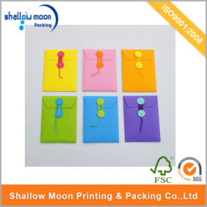 Customized Colored Buttoned Envelope /Printed Envelops (QYCI15387)