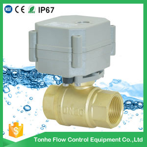 """2 Way 3/4"""" Inch Dn20 Automatic Electric Water Shut off Valve Motorized Ball Valve pictures & photos"""