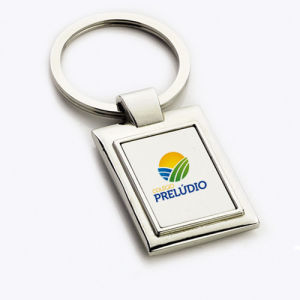 Wholesale Retail Imprint Color Company Logo Rectangle Cheap Keychain (F1367)