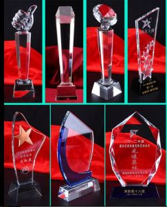 Cheap Crystal Glass Trophy for Promotion pictures & photos