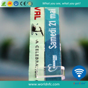 Reusable 125 kHz Em4305 RFID Fabric Woven Wristband  pictures & photos