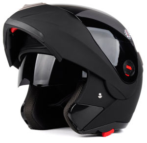 Matt Black Double Visors Flip up Motorcycle Helmets