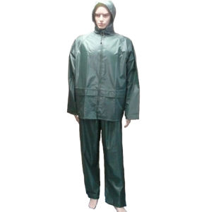 Navy Green PVC Raincoat/ Rainsuit/ Rainwear pictures & photos