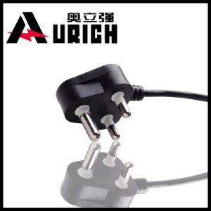 South Africa India Power Cord 5A/10A 250V H05VV-F 3G0.75/1.0/1.5mm2 with IEC Connector C13 pictures & photos