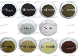 Black/Dk Brown Concealer Thinning Empty Bottle Keratin Hair Fiber Powder pictures & photos
