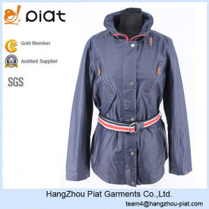 2015 High Quality Ladies Fashion Windproof Windbreaker Waterproof Jacket with PVC Coating