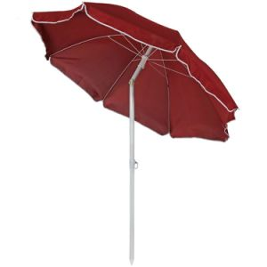 Steel 5 Foot Red Beach Umbrella with Tilt Function pictures & photos